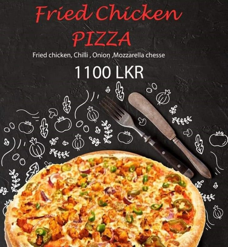 Fried Chicken Pizza
